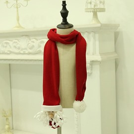 Ericdress Christmas Scarf Polyester Cartoon Scarves