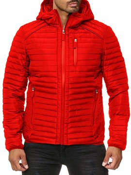 Ericdress Standard Zipper Hooded Casual Men's Down Jacket