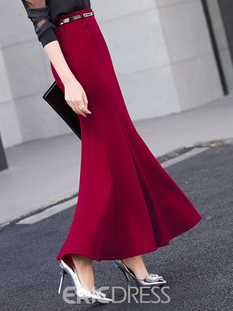 Ericdress Mermaid Ankle-Length Elegant Skirt
