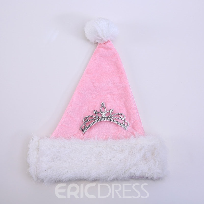 Ericdress Cloth Decoration Pink Christmas Hat