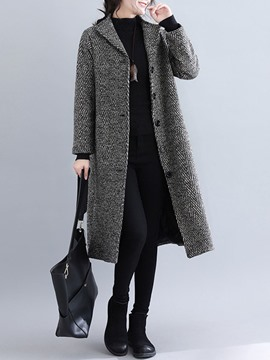 Ericdress Straight Single-Breasted Long Women's Overcoat
