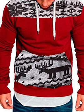 Ericdress Color Block Pullover Thick Loose Men's Hoodies