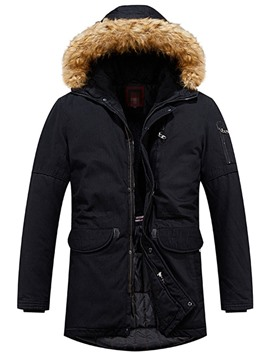Ericdress Color Block Mid-Length Patchwork European Men's Down Jacket