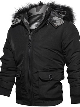 Ericdress Zipper Standard Hooded European Men's Down Jacket