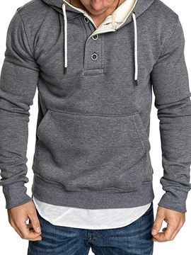 Ericdress Pocket Pullover Fleece Men's Casual Hoodies