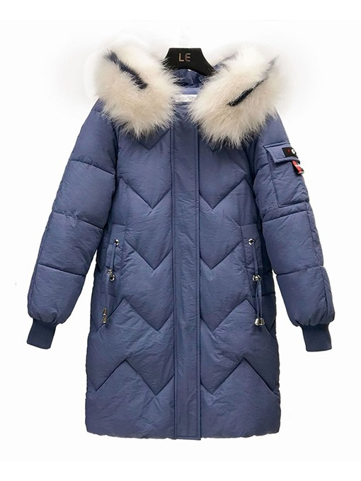 Ericdress Patchwork Loose Thick Long Cotton Padded Women's Jacket