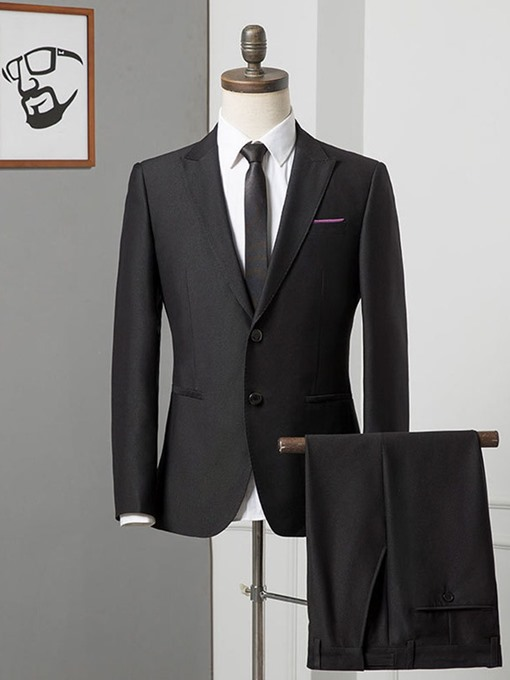 Ericdress Patchwork Single-Breasted Formal Men's Dress Suit
