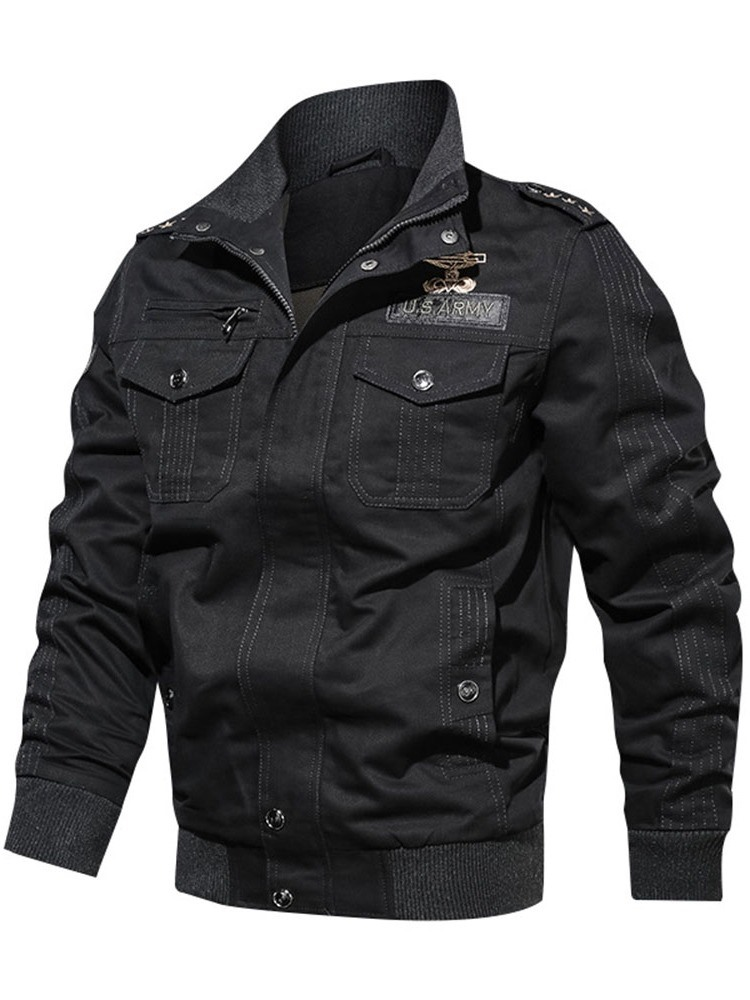 Ericdress Thick Pocket Stand Collar Slim Men's Jacket