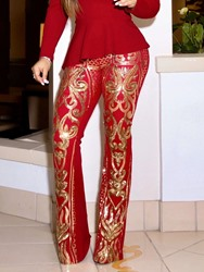 Ericdress Slim Bellbottoms Full Length Casual Pants фото