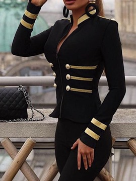 Ericdress Zipper Long Sleeve Slim Fit Standard Regular Women's Jacket