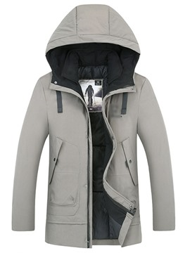 Ericdress Patchwork Mid-Length Men's Down Jacket
