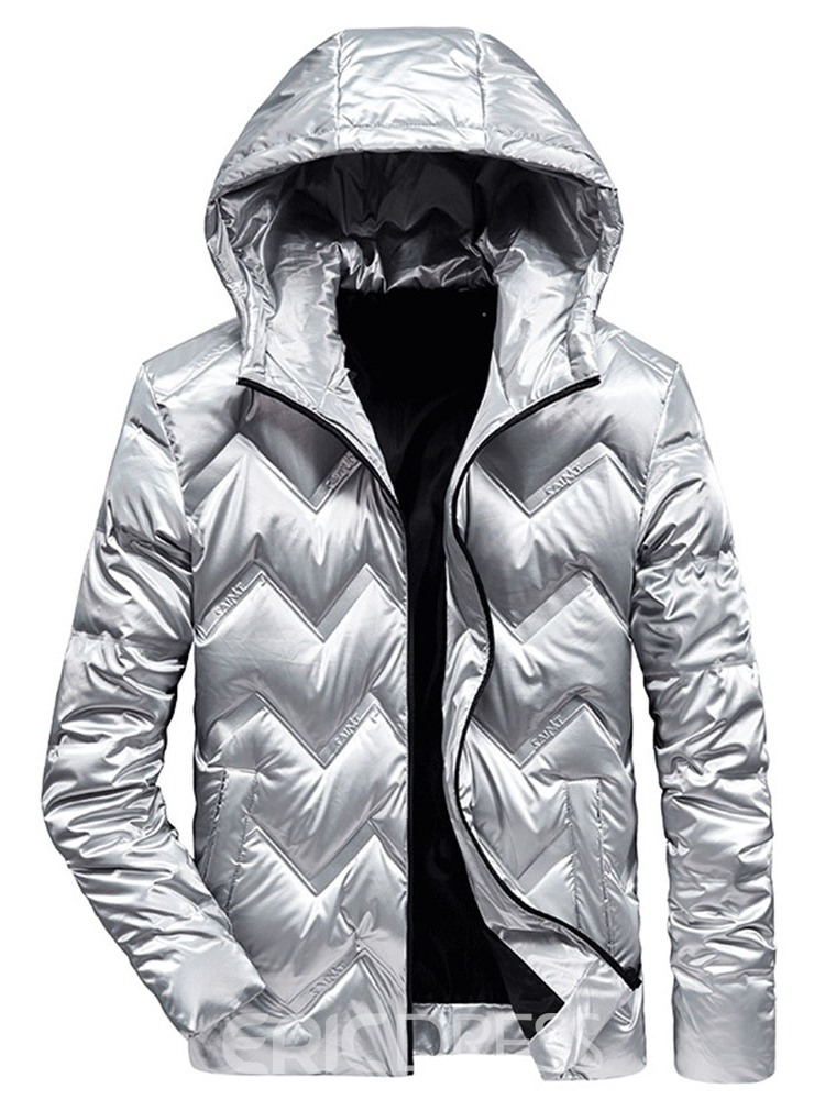 Ericdress Hooded Standard Plain Zipper European Men's Down Jacket