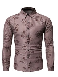 Ericdress Lapel Casual Button Slim Single-Breasted Mens Shirt