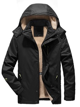 Ericdress Plain Zipper Casual Men's Down Jacket