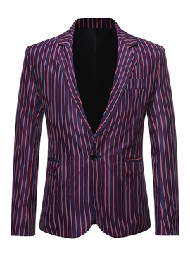 Ericdress Casual Stripe Button Men's Leisure Blazers