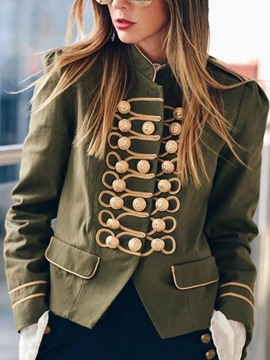 Ericdress Slim Long Sleeve Single-Breasted Stand Collar Fall Women's Jacket