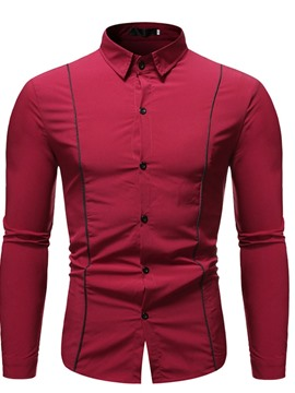 Ericdress Casual Lapel Button Single-Breasted Slim Men's Shirt