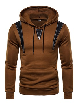 Ericdress Patchwork Color Block Pullover Casual Slim Men's Hoodies