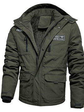 Ericdress Patchwork Block Standard Zipper Casual Men's Down Jacket
