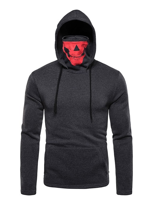 Ericdress Pullover Color Block Pocket Slim Men's Hoodies