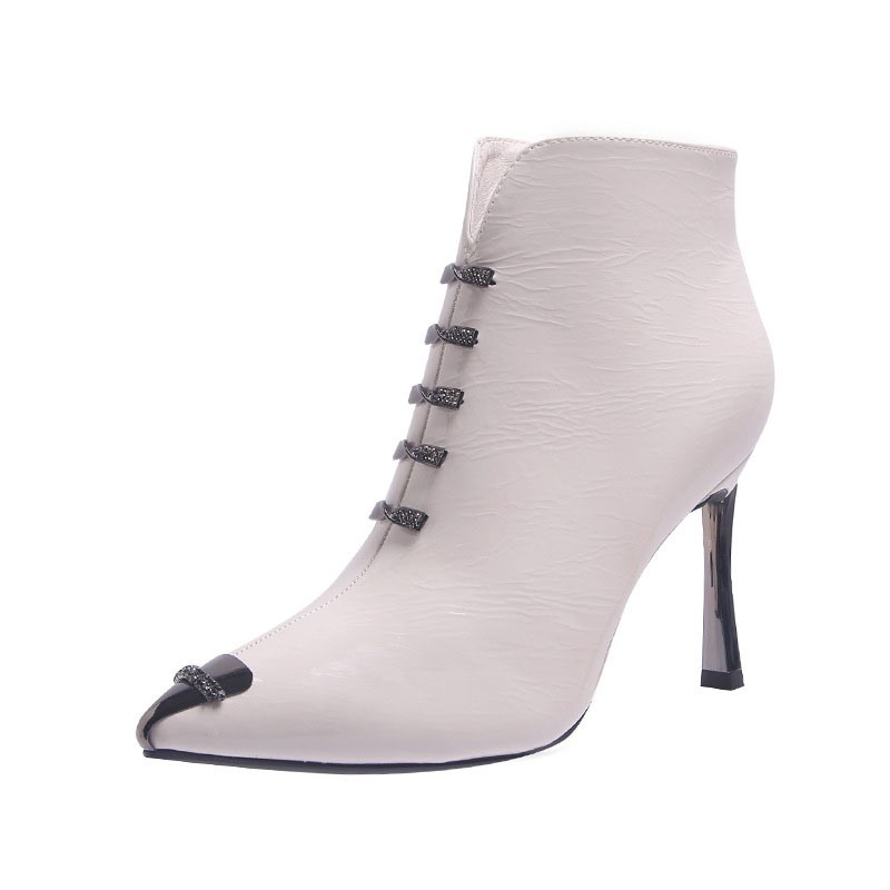 Ericdress Stiletto Heel Pointed Toe Short Floss Ankle Boots