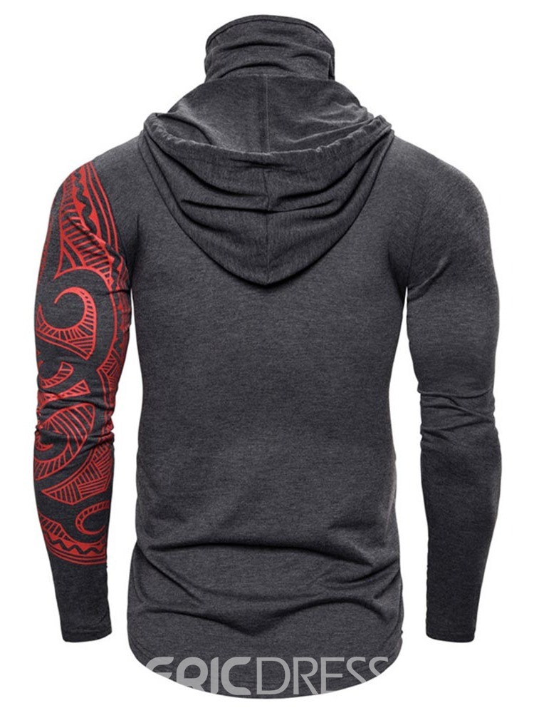 Ericdress Color Block Thick Cardigan Slim Casual Men's Hoodies