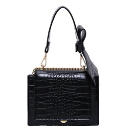 Ericdress Embossing Alligator PU Square Crossbody Bags