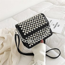 Ericdress Rivet PU Rectangle Versatile Crossbody Bags