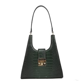 Ericdress Thread PU Alligator Rectangle Shoulder Bags