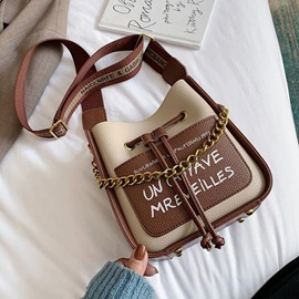 Ericdress Letter PU Thread Rectangle Crossbody Bags
