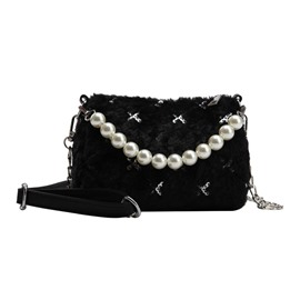 Ericdress PU Chain Circular Winter Crossbody Bags