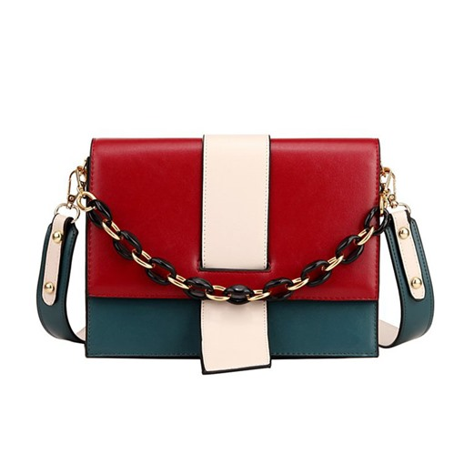 Ericdress PU Color Block Casual Rectangle Tote Bags