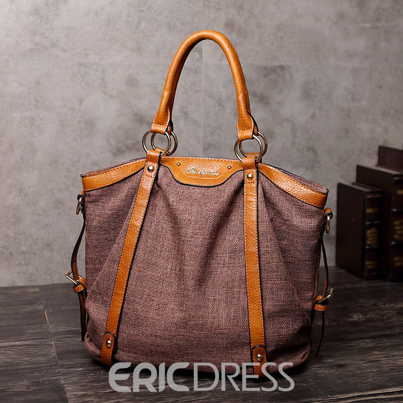 Ericdress Canvas Thread Rectangle Tote Bags