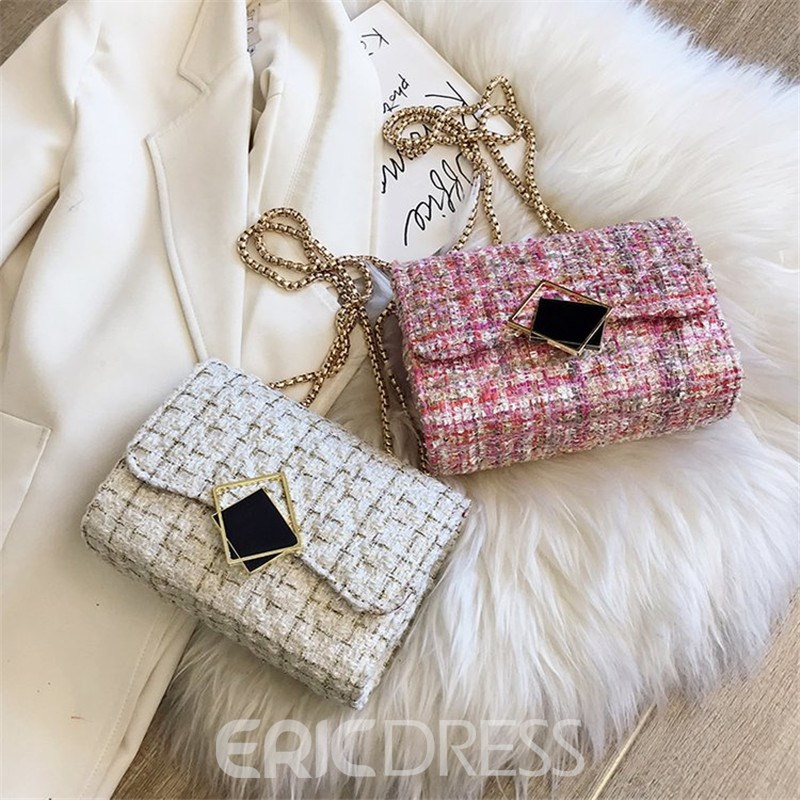 Ericdress Wool Blends Knitted Rectangle Shoulder Bags
