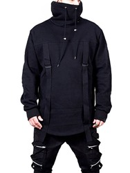Ericdress Plain Patchwork Pullover Casual Mens Hoodies