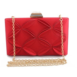 Ericdress Versatile Satin Rectangle Clutches Evening Bags