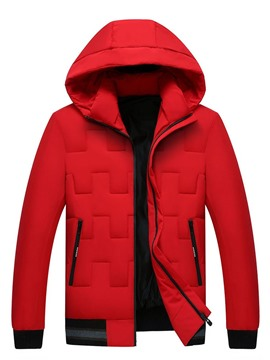 Ericdress Standard Plain Zipper Men's Down Jacket