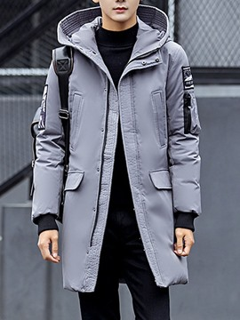 Ericdress Appliques Color Block Zipper Korean Men's Down Jacket
