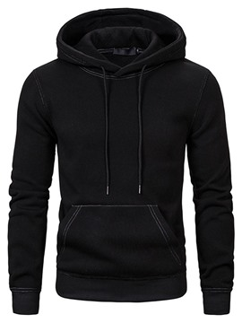 Ericdress Pullover Pocket Plain Slim Men's Hoodies