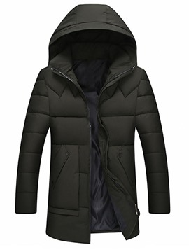 Ericdress Hooded Zipper Korean Men's Down Jacket