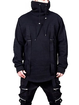 Ericdress Plain Patchwork Pullover Casual Men's Hoodies