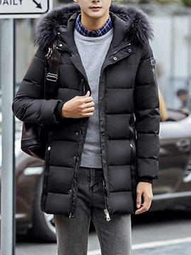 Ericdress Casual Hooded Zipper Korean Men's Down Jacket