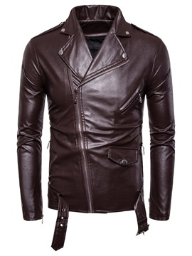 Ericdress Lapel Plain Zipper Men's Jacket