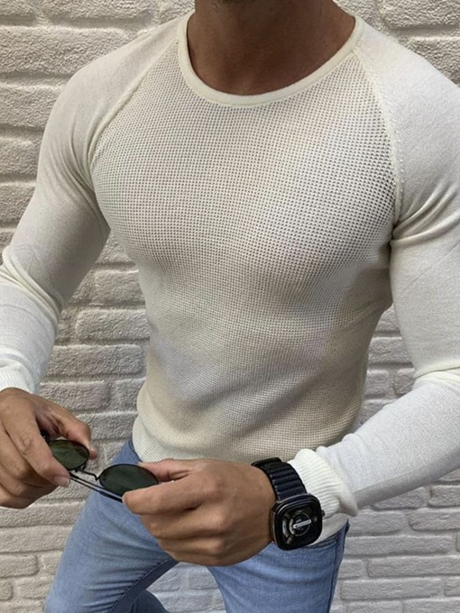 Ericdress Round Neck Standard Casual Men's Sweater