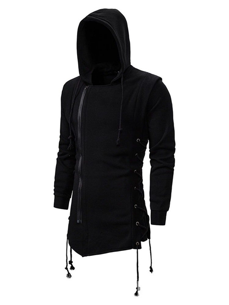 Ericdress Cardigan Plain Zipper Slim Men's Hoodies