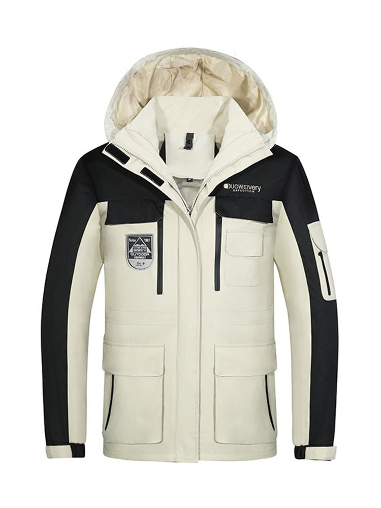 Ericdress Collar Color Block Standard Zipper Korean Men's Down Jacket