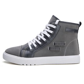 Ericdress Lace-Up High Top Round Toe Men's Skate Shoes