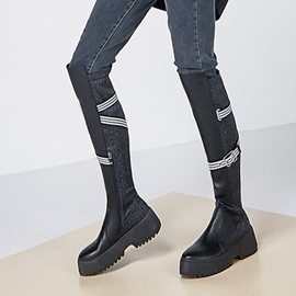 Ericdress Customized Round Toe Side Zipper Knee High Boots