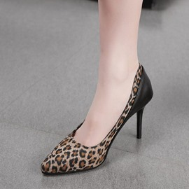 Ericdress Thread Slip-On Pointed Toe Leopard Print Pumps