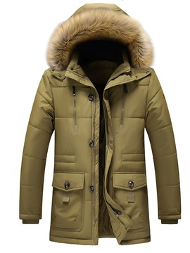 Ericdress Hooded Casual Zipper Men's Down Jacket